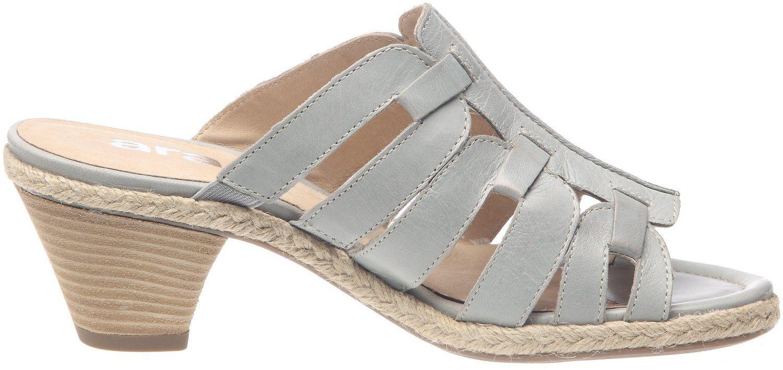Pantoletten Genua-Sand silber Leder